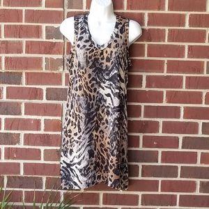 KLD beautiful animal print shift dress